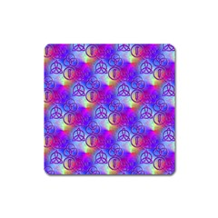 Rainbow Led Zeppelin Symbols Magnet (Square) by SaraThePixelPixie