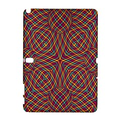 Trippy Tartan Samsung Galaxy Note 10 1 (p600) Hardshell Case by SaraThePixelPixie