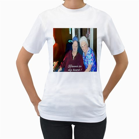 Forever In My Heart !  Xlarge By Pamela Sue Goforth   Women s T Shirt (white)    0q9zqbaqlay8   Www Artscow Com Front