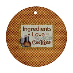Cookies Ornament By Lisa Minor   Round Ornament (two Sides)   2msxwr2tfyz7   Www Artscow Com Back