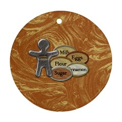 Cookie Ornament 3 By Lisa Minor   Round Ornament (two Sides)   J5rw5er84teh   Www Artscow Com Back