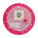 Baby Girl Ornament - Round Ornament (Two Sides)