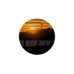 Aerial View Sunset Scene Of Montevideo Uruguay Golf Ball Marker (4 Pack) by dflcprints