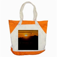 Aerial View Sunset Scene Of Montevideo Uruguay Accent Tote Bag  by dflcprints