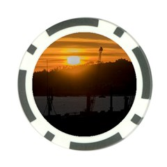 Aerial View Sunset Scene Of Montevideo Uruguay Poker Chip Card Guards (10 Pack)  by dflcprints