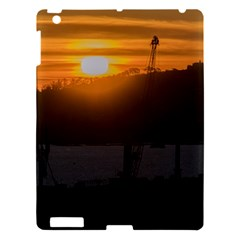 Aerial View Sunset Scene Of Montevideo Uruguay Apple Ipad 3/4 Hardshell Case by dflcprints