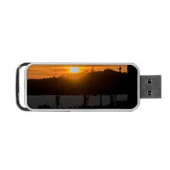 Aerial View Sunset Scene Of Montevideo Uruguay Portable Usb Flash (one Side) by dflcprints