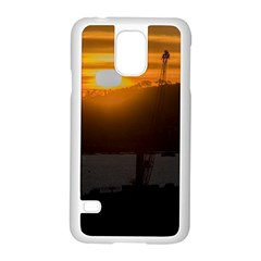 Aerial View Sunset Scene Of Montevideo Uruguay Samsung Galaxy S5 Case (white) by dflcprints