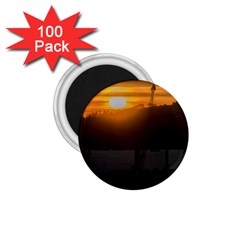 Aerial View Sunset Scene Of Montevideo Uruguay 1 75  Magnets (100 Pack)  by dflcprints