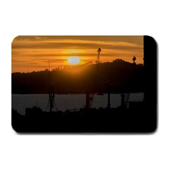 Aerial View Sunset Scene Of Montevideo Uruguay Plate Mats by dflcprints