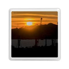 Aerial View Sunset Scene Of Montevideo Uruguay Memory Card Reader (square)  by dflcprints