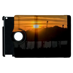 Aerial View Sunset Scene Of Montevideo Uruguay Apple Ipad 3/4 Flip 360 Case by dflcprints