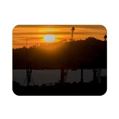 Aerial View Sunset Scene Of Montevideo Uruguay Double Sided Flano Blanket (mini)