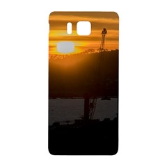 Aerial View Sunset Scene Of Montevideo Uruguay Samsung Galaxy Alpha Hardshell Back Case by dflcprints