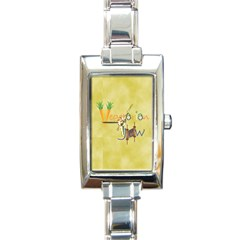 vegan jstar6X5.8_12_7_2015 Rectangle Italian Charm Watch from ArtsNow.com Front