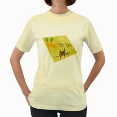 vegan jstar_12_7_2015 Women s Yellow T Front