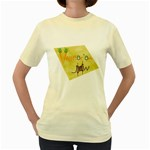 vegan jstar_12_7_2015 Women s Yellow T-Shirt