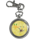 Vegan Jewish Star Key Chain Watch