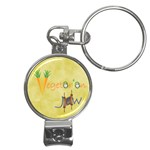 VeggieJew02_12_7_2015 Nail Clippers Key Chain