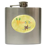 Vegan Jewish Star Hip Flask (6 oz)