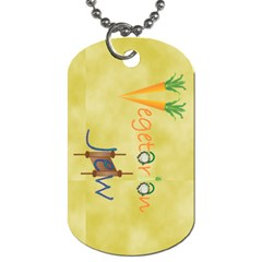 Vegan Jewish Star Dog Tag (Two Sides) from ArtsNow.com Front