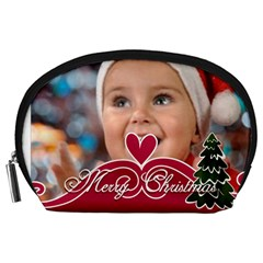 Xmas By Man   Accessory Pouch (large)   7a84ctga9iz6   Www Artscow Com Front