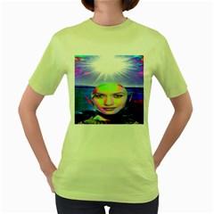 Sunshine Illumination Women s Green T Shirt by icarusismartdesigns