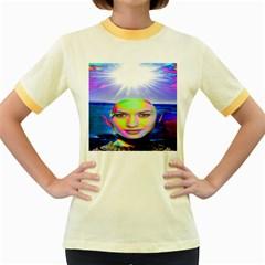 Sunshine Illumination Women s Fitted Ringer T Shirts by icarusismartdesigns