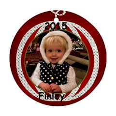 2015 Finley By Ellen   Round Ornament (two Sides)   G79000dbpu8w   Www Artscow Com Front