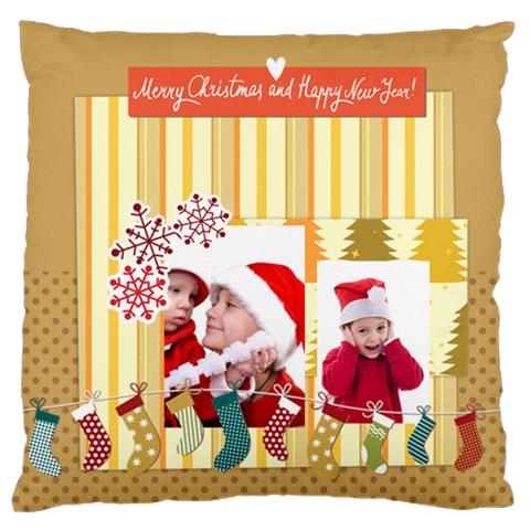Xmas By Joy   Standard Flano Cushion Case (one Side)   081rs6vdf3jo   Www Artscow Com Front