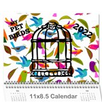 Pet Bird Calendar, 2016 - Wall Calendar 11  x 8.5  (12-Months)