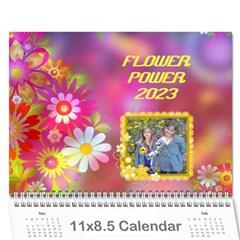 Flower Power 2016 By Joy Johns   Wall Calendar 11  X 8 5  (12 Months)   Cexkok6xtgfe   Www Artscow Com Cover