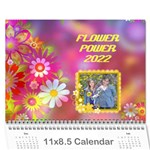 Flower Power 2016 - Wall Calendar 11  x 8.5  (12-Months)