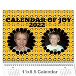 Calendar of JOY, 2016 - Wall Calendar 11  x 8.5  (12-Months)
