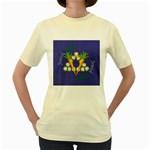 Vegan Jewish Star Women s Yellow T-Shirt