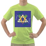 Vegan Jewish Star Green T-Shirt