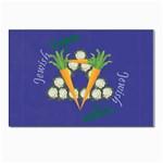 Vegan Jewish Star Postcard 4  x 6