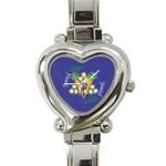 Vegan Jewish Star Heart Italian Charm Watch