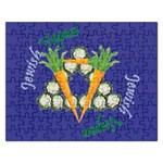 Vegan Jewish Star Jigsaw Puzzle (Rectangular)
