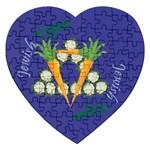 Vegan Jewish Star Jigsaw Puzzle (Heart)