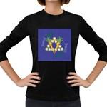 Vegan Jewish Star Women s Long Sleeve Dark T-Shirt
