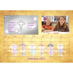 Children s Bible Verses Desktop Calendar By Joy Johns   Desktop Calendar 8 5  X 6    Ridw1m3kftdh   Www Artscow Com Feb 2016