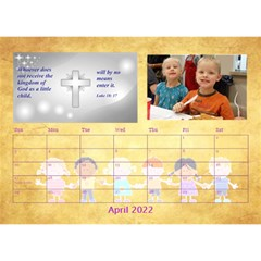 Children s Bible Verses Desktop Calendar By Joy Johns   Desktop Calendar 8 5  X 6    Ridw1m3kftdh   Www Artscow Com Apr 2016