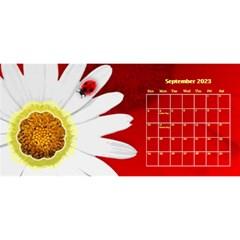Flower Desktop 11x5 Calendar By Joy Johns   Desktop Calendar 11  X 5    Uxmz1kgb3f9k   Www Artscow Com Sep 2016