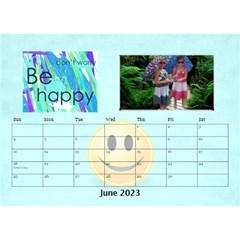 Happy Face Desk Calender By Joy Johns   Desktop Calendar 8 5  X 6    Rtxx9xrpqt77   Www Artscow Com Jun 2016