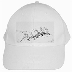 Buffalo / Bison Gift White Cap by TwoFriendsGallery