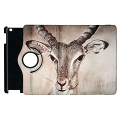 Antelope Horns Apple Ipad 3/4 Flip 360 Case by TwoFriendsGallery