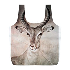 Antelope Horns Full Print Recycle Bags (l)  by TwoFriendsGallery