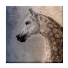 Grey Arabian Horse Tile Coasters by TwoFriendsGallery