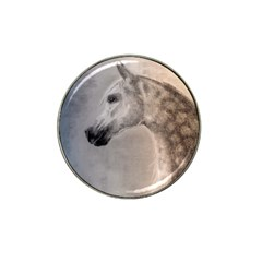 Grey Arabian Horse Hat Clip Ball Marker by TwoFriendsGallery